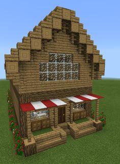 minecraft bakery medieval build shops plans easy blueprints decorations dede vapott