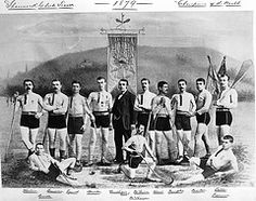 Shamrock Club lacrosse team, Champions of the World, composite, 1879. Notman photographic Archives - McCord Museum