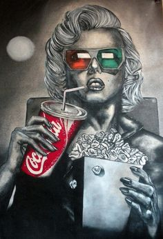 Saatchi Online Artist: Eric Eric; Acrylic, 2012, Painting Marilyn Monroe  | This image first pinned to Marilyn Monroe Art board, here: http://pinterest.com/fairbanksgrafix/marilyn-monroe-art/ || #Art #MarilynMonroe