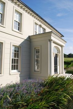 Traditional Georgian or classical style bespoke House Paul McAlister Architects House Front Door, House With Porch, House Paint Exterior, Exterior Design, Stone Exterior, Georgian Style Homes, Georgian House, Georgian Doors, Front Porch Design