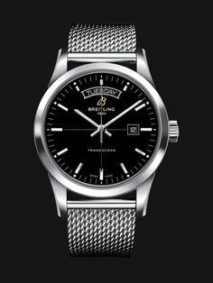 42315ef36d3 Transocean Day   Date watch by Breitling - sleek steel case
