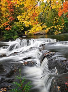 Upper Bond Falls, Paulding, Michigan, USA