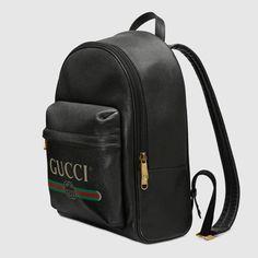 19ed1e8207dd Versace Bag. See more. Gucci Print кожаный рюкзак из черной кожи с  логотипом Gucci vintage | Мужские рюкзаки Gucci Designer