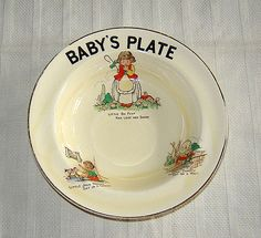 Unique Trinket Plate - Antique Style Baby Shower First Birthday Gift SALE Vintage Nursery Rhyme Children/'s Green Glass Compartment Dish
