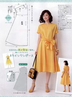 Easy Sewing Patterns Clothing Patterns Sewing Clothes Diy Clothes One Shoulder Kleid Japanese Sewing Altering Clothes Embroidery Fashion Diy Dress Japanese Sewing Patterns, Skirt Patterns Sewing, Clothing Patterns, Skirt Sewing, Embroidery Fashion, Embroidery Dress, Embroidery Patterns, Hand Embroidery, Japanese Embroidery