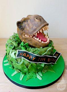 tyrannosaurus rex cake template - Google Search