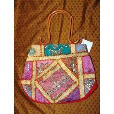 Womens Sari Handbag Multi Blue Bollywood Purse Boho (Apparel)  http://www.amazon.com/dp/B005EEZLNS/?tag=iphonreplacem-20  B005EEZLNS