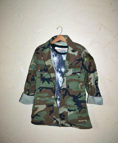 Vintage US Army Shirt Army Camo Jacket by founditinatlanta on Etsy