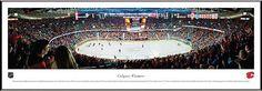 Calgary Flames Framed Panoramic Poster Print - Scotiabank Saddledome
