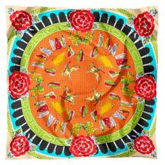 Joli #foulard en #soie aux couleurs vives - Prix 181 euros TTC - En stock