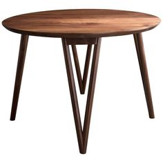 The Hair Pin table uses a solid wood interpretation of a classic leg giving new style to this seemingly traditional support.Shown in walnut and available in ash, maple, or white oak. Modern Dining Room Tables, Dining Table, Center Table, White Oak, Table Furniture, Hair Pins, Solid Wood, Hardwood, Home Decor