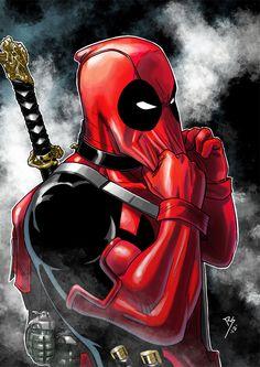 #Deadpool #Fan #Art. (Is about to get serious.) By: Ruihq. ÅWESOMENESS!!!™