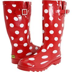 polka dot wellies!! only $27 and free shipping!! how can i resist!?!