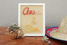DIY String Wedding Sign on http://ruffledblog.com