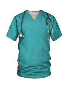 All Over Print Halloween Nurse's Scrubs Uniform by AllOverPrintLab
