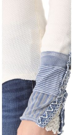 Free People Kyoto Cuff Thermal Top (I can't wear ivory but love this cuff)