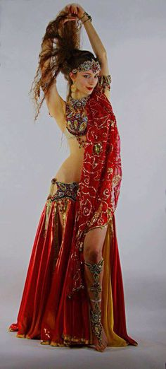 Bellydance If I had the figure-this would be fun to wear. It's pretty, I love the leg/ foot jewelry