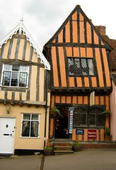 """""""The Crooked House"""", High Street, Lavenham, Suffolk. I used to live around the corner!!"""