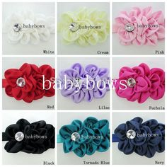 Boutique Handmade Crystal Rhinestone Flower Head Bands Infant Hairband For Kids Child Hair Flowers Baby Headbands Accessories
