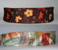 Purple Reversible Headband Fall Flowers and by superchicboutique, $8.00