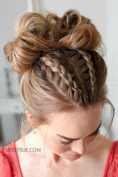 Dutch V Braids 4 Styles # Braids # Dutch # Hair Style # Hair Styles # Styles Long Braided Hairstyles, Ponytail Hairstyles, Summer Hairstyles, Pretty Hairstyles, Hairstyle Braid, Dutch Hair, Dutch Braids, Fun Braids, Bridesmaid Hair Updo