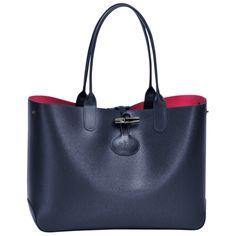 Tote bag - ROSEAU RÉVERSIBLE - Handbags - Longchamp - Sandy/Cherry - Longchamp United-States