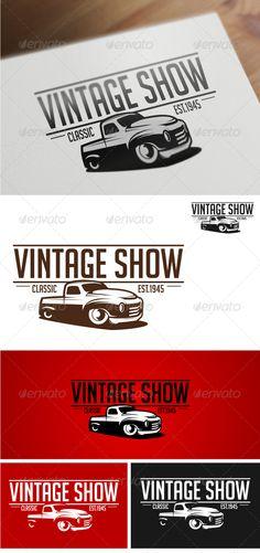 Vintage Show Logo Templates - GraphicRiver Item for Sale