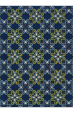 $5 Off when you share! Oriental Weavers Caspian Outdoor 3331 Blue Rug