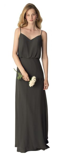 Bill Levkoff - 1266   Bridesmaids & Special Occasion at Jaehee Bridal Atelier    #aline #vneck #straps #bridesmaid #bridesmaids #bridesmaiddresses