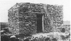 The abandoned rock house about 16 miles east of Old Fort Sumner said to have been built by Alejandro Perea, in which Billy the Kid, Charlie Bowdre, Billy Wilson, Tom Pickett, and Dave Rudabaugh sought refuge on the night of December 22, 1880, after Sheriff Pat Garrett's posse surprised the gang as they came into Old Fort Sumner, in the snow on the night of December 19, and shot Tom O'Folliard.