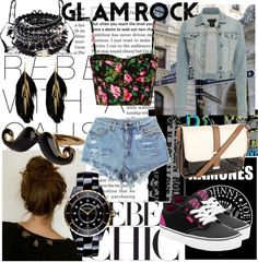 """Glam-Rock outfit..."" by anitormey ❤ liked on Polyvore"