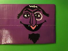 Sesame Street's The Count Duct Tape Wallet. $7.00, via Etsy.