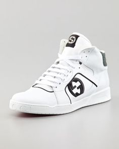 gucci shoes black and white. hi-top rebound sneakers, white by gucci at neiman marcus. shoes black and b