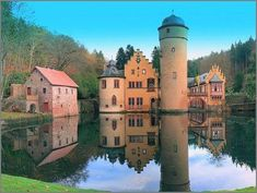 2013 ... always time for reflecting ... Mespelbrunn Castle, Germany (63 pieces)