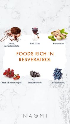 𝙍𝙚𝙨𝙫𝙚𝙧𝙖𝙩𝙧𝙤𝙡 is one of my favorite polyphenols primarily because of its amazing powers in combatting aging and protecting your body against cellular damage. While supplementation is preferred to ensure you get the recommended dosage of resveratrol, you can also get an extra boost of resveratrol from the foods you eat. That's what makes resveratrol such a special polyphenol. You can infuse it into your diet by consuming these foods rich in Resveratrol. Cardiac Muscle Cell, Metabolic Syndrome, Red Grapes, Holistic Approach, Trying To Lose Weight, Reduce Inflammation, Better Health, Alternative Medicine, Chocolate Recipes