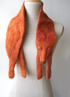 fox scarf!! (except i am not a felter. maybe i can recreate this w tshirt fabric? but this looks so much nicer than anything i could do)