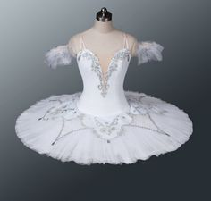 This beautiful stage costume has been created for roles such as Nikiya in La Bayadere, Princess Aurora in Sleeping Beauty, Macha in Nutcracker, the Snow Queen in Nutcracker, and for any classical vari