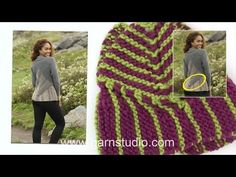 DROPS Knitting Tutorial: How to work the shawl in DROPS 166-26 - YouTube