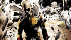 Saitama, one punch man, anime, dark artwork wallpaper