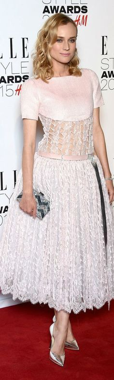 e924fc5e757 Diane Kruger in Chanel Couture at Elle Style Awards 2015