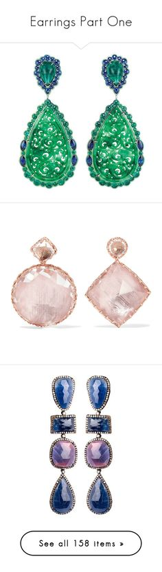 """Earrings Part One"" by k-amelia on Polyvore featuring jewelry, earrings, rose gold post earrings, quartz jewelry, post earrings, rose gold jewelry, rose gold earrings, earring jewelry, clear and druzy jewelry"