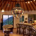 Hierro Retro comedor lámpara de luz colgante de Hotel luz especiales hechos a mano del arte del hierro Southest estilo de Asia luz