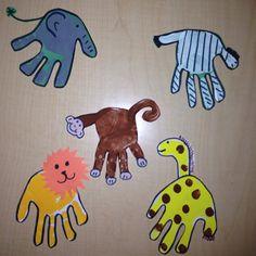 Hand Print Animals (Matthews's room)