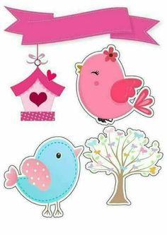 Resultado de imagem para tag passarinho rosa
