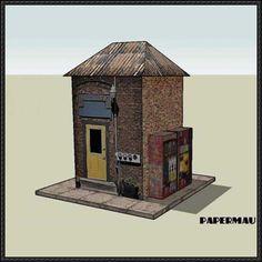 Engine Shed Free Building Paper Model Download - http://www.papercraftsquare.com/engine-shed-free-building-paper-model-download.html