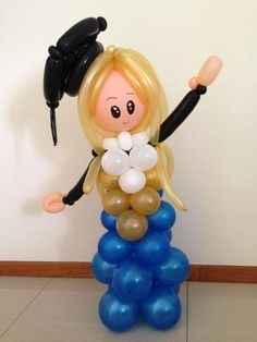 Sculture di palloncini  (Foto 14/40) | PourFemme Graduation Balloons, Graduation Decorations, Princess Balloons, Welcome Card, Elephant Party, Balloon Gift, Preschool Graduation, Balloon Decorations Party, Grad Gifts