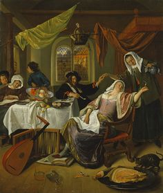 The Dissolute Household, ca. 1663–64 Jan Steen (Dutch, 1626–1679) Oil on canvas