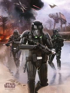 NEW Rogue One Official Posters HD - A Star Wars Story _ Death Trooper Beach Assault Planet Scarif HD Hi Res