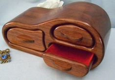 Band Saw Jewelry Box-bandsaw Trinket/keepsake Box - American Black Walnut