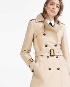 Image 2 of COTTON TRENCH COAT from Zara £69.99
